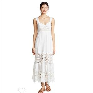 Like new Free People Maxi dress with lace